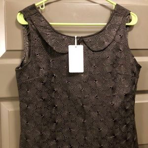 NWT Anthropologie eyelet embroidered shell